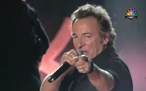 At Halftime, Springsteen Summons Rock's Redemptive Power